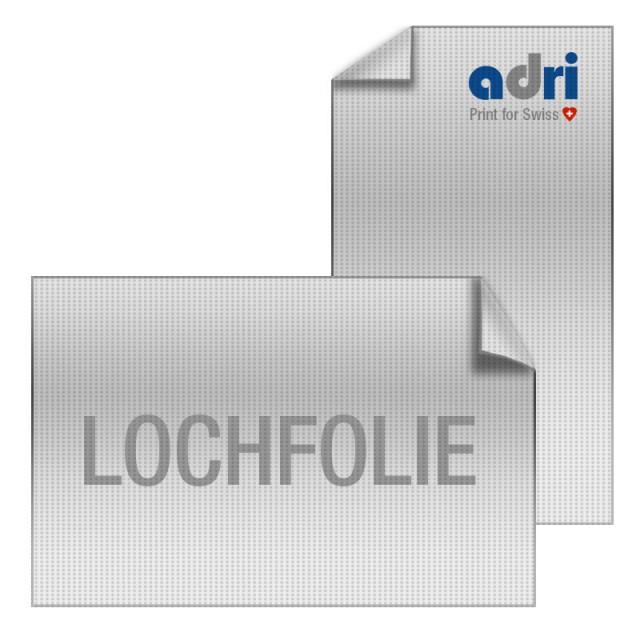 Window Graphics Lochfolie